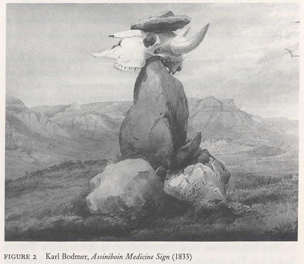 Karl Bodmer, Assiniboin Medicine Sign (1833)